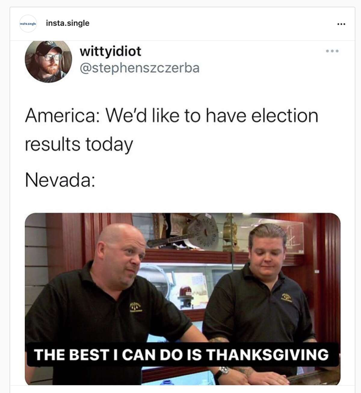 The memes related to Nevada counting ballots for the 2020 election have been on point.