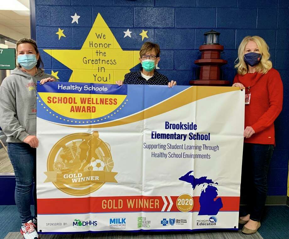 Brookside Elementary School recently received the 2020 Michigan Schools Wellness Gold Award. This is the school's second consecutive year receiving the recognition. (Courtesy photo)