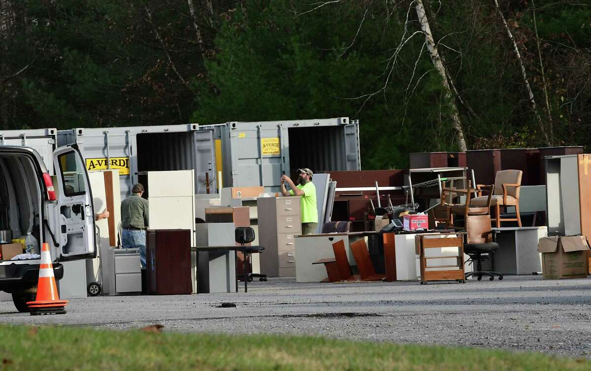 Furniture is seen in a lot behind Saratoga Springs Ice Rink on Thursday, Nov. 5, 2020 in Saratoga Springs, N.Y. (Lori Van Buren/Times Union)
