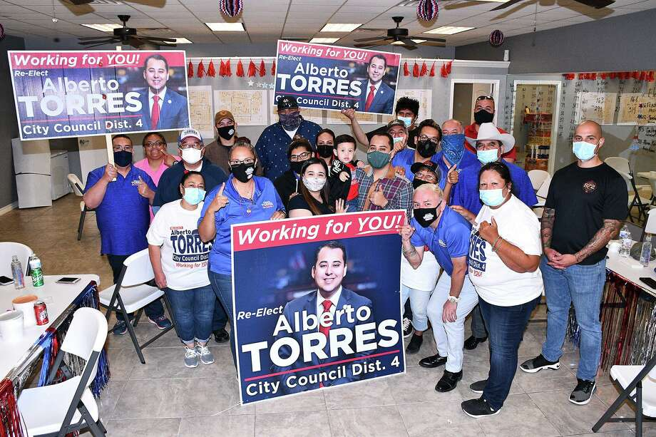 District IV Councilman Alberto Torres was the lone council candidate to win his race outright as the other three races are heading to runoffs. Photo: Cuate Santos / Laredo Morning Times / Laredo Morning Times