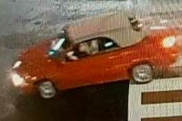 This red car was seen around the area just before and after the Discount Store was burglarized two weeks ago. The Stamford police are seeking more information about it and two area burglaries.