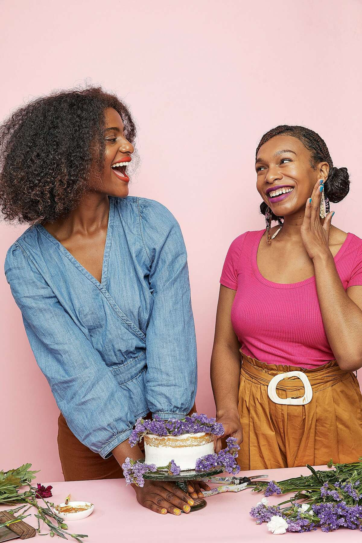 Malaka Wilson-Greene (left) and Erica Freeman run Two Chicks in the Mix with kitchens in Alameda and Los Angeles.