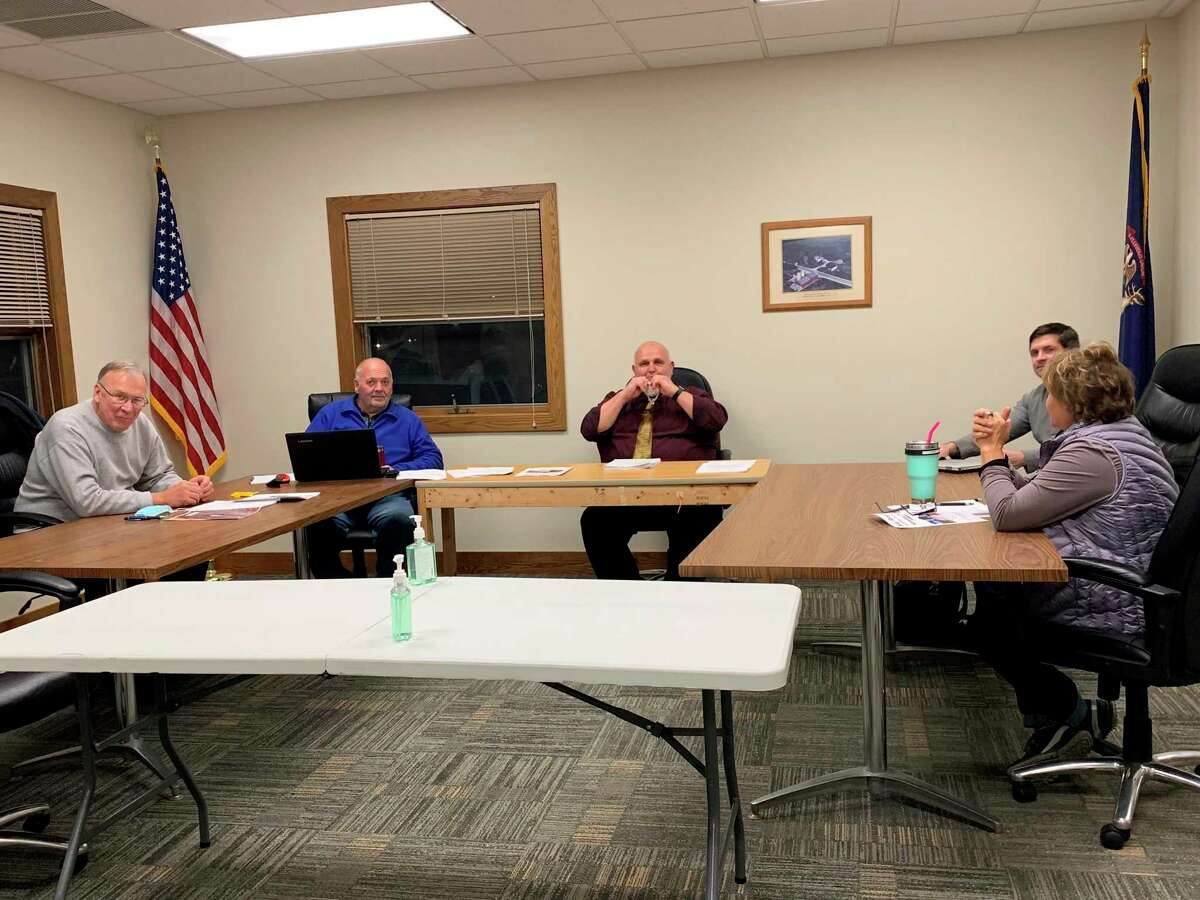 The Big Rapids Township board of trustees approved an agreement with American Towers, LLC., as well as an updated Master Plan that is available on the website at its meeting Tuesday night.(Pioneer photo/Cathie Crew)