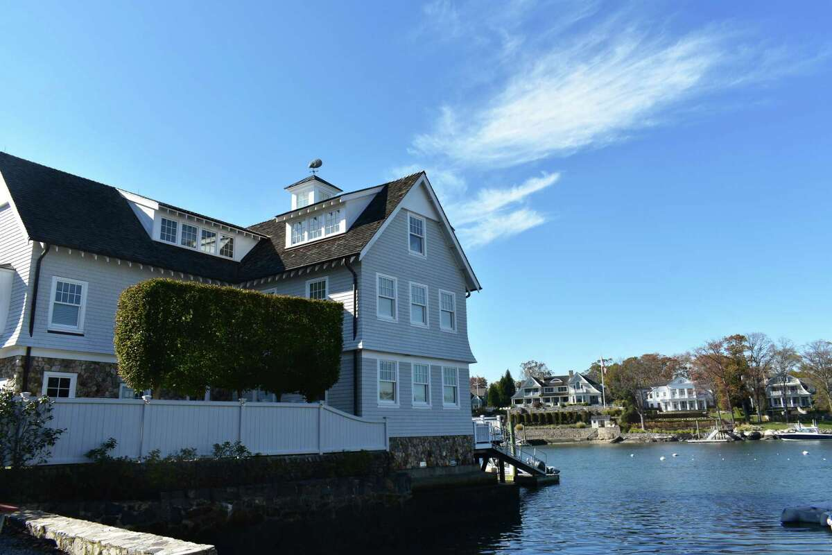 The waterfront home at 57 Rowayton Ave. in Norwalk, Conn., which sold in October 2020 for more than $6.6 million to set a record price for homes in the city's Rowayton neighborhood fronting the Five Mile River and Long Island Sound.