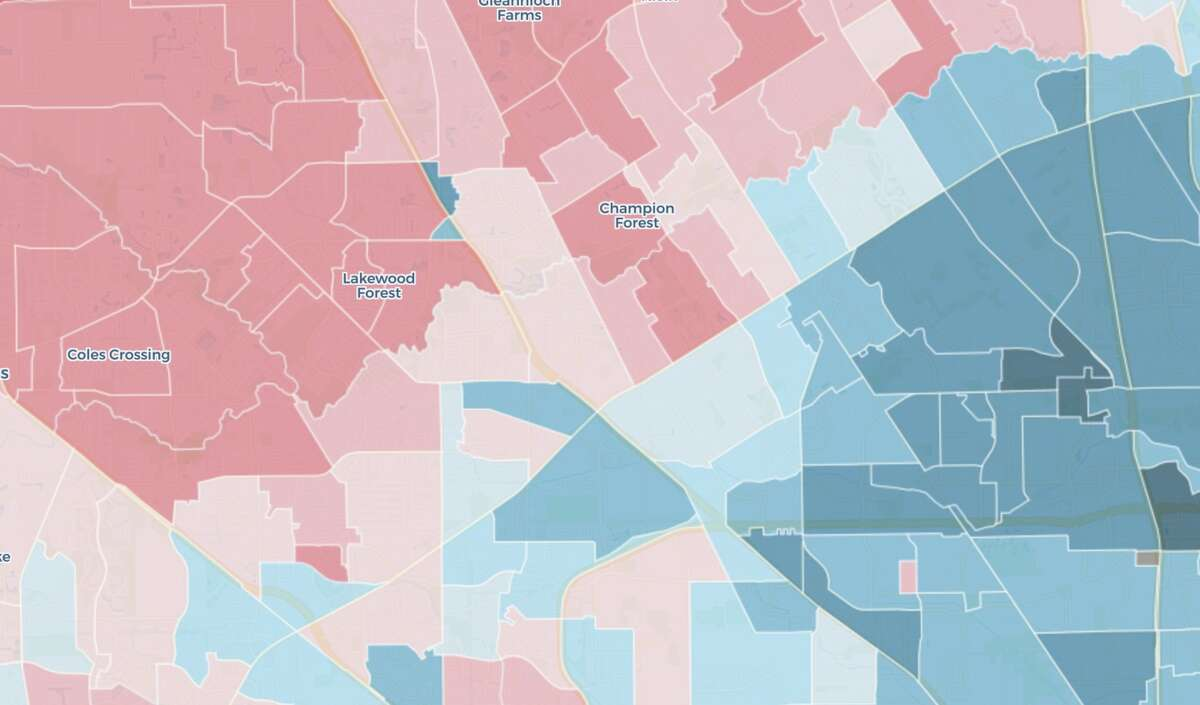 This Houston Chronicle map shows you how your Harris County precinct voted in the 2020 presidential election.