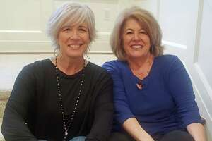 Nancy Carr (left) and Roseann Benedict (right), co-founders of the annual Sip & Shop event, which raises money each year to support local businesses and cancer research.