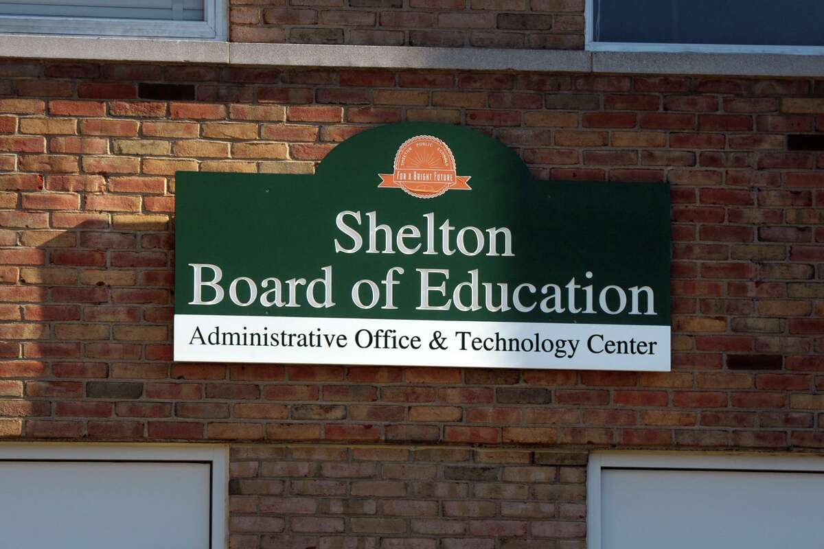 Exterior view of the Board of Education offices in Shelton, Conn. Nov. 5, 2020.