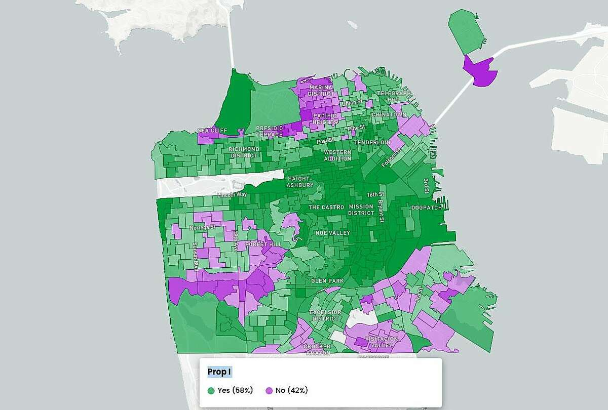 San Francisco results for Proposition I as of Nov. 5, 2020.