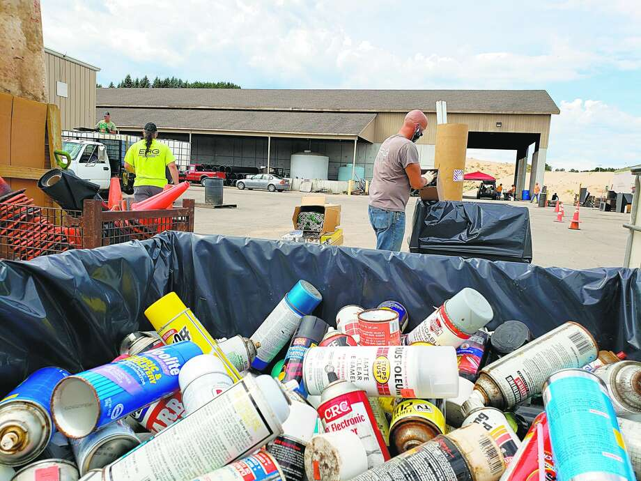 The Manistee Conservation District received $151,500 in grant funding from the Michigan Department of Agriculture and Rural Development. In this Aug. 17 file photo, toxic waste products are collected at the annual hazardous waste cleanup hosted by the conservation district. Photo: File Photo