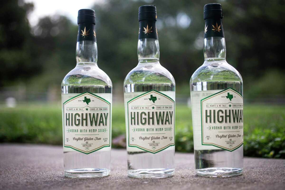 Highway Vodka is made from hemp seeds with their oils included, which gives the vodka a viscous but smooth texture.