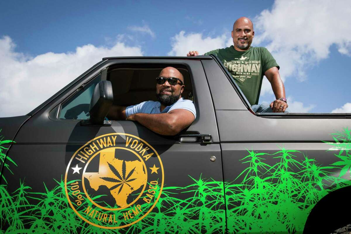 Ben Williams (left) and his business partner, Wendell Robbins III, lead the team behind Highway Vodka, Texas' first hemp-based vodka.