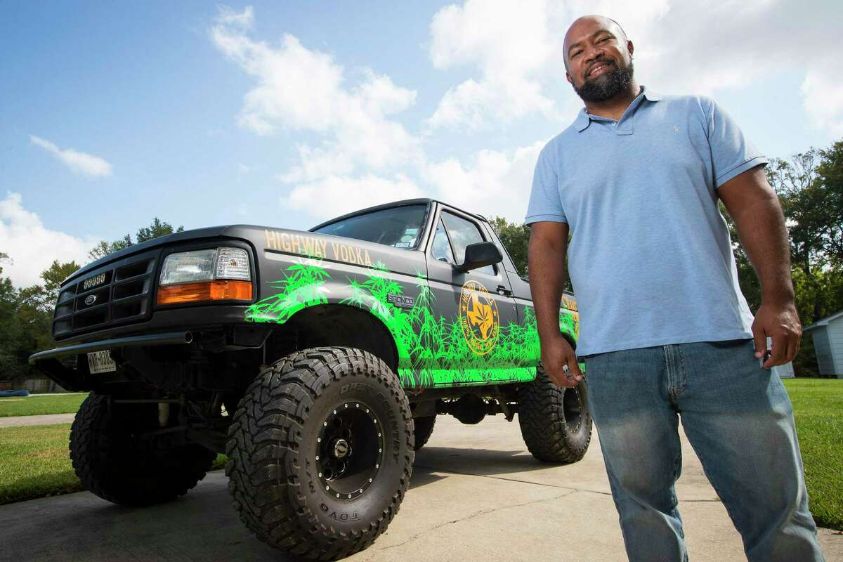 Ben Williams is often seen driving around town in his Highway Vodka-branded '93 Ford Bronco.