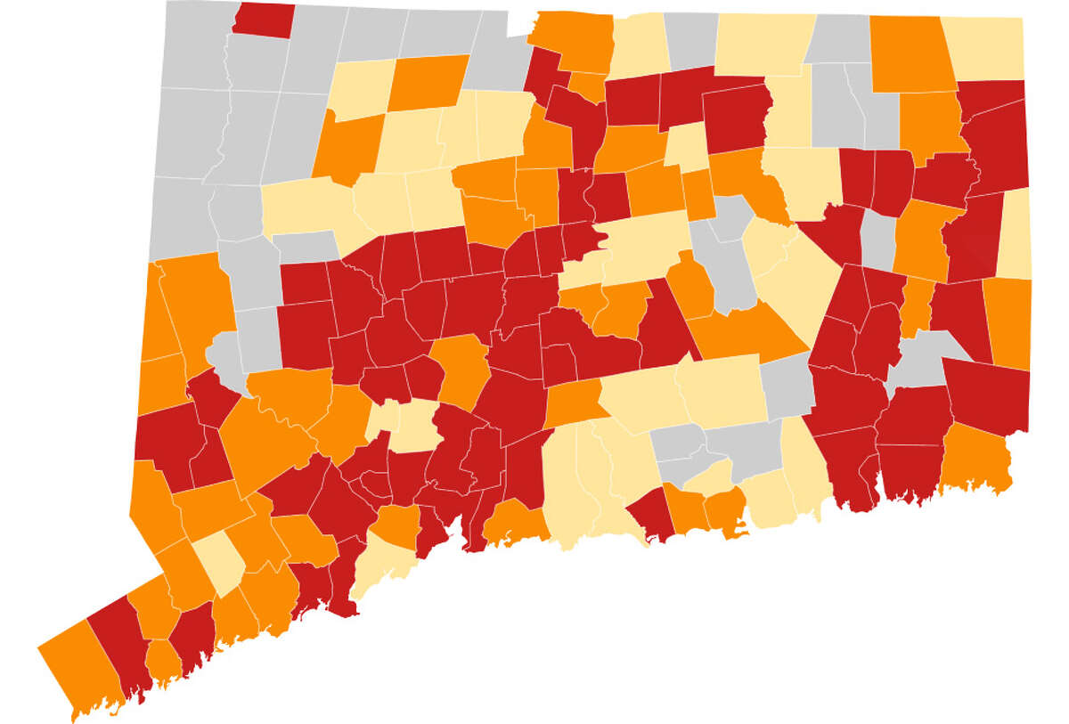 Red Alert map of. CT