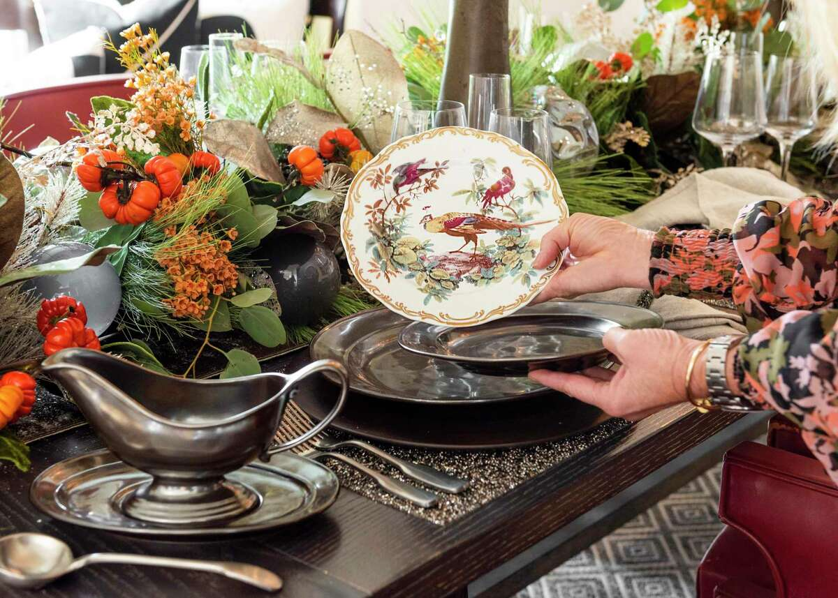 Swapping out salad plates can change the mood of the table or set it up for a new holiday or dinner party.