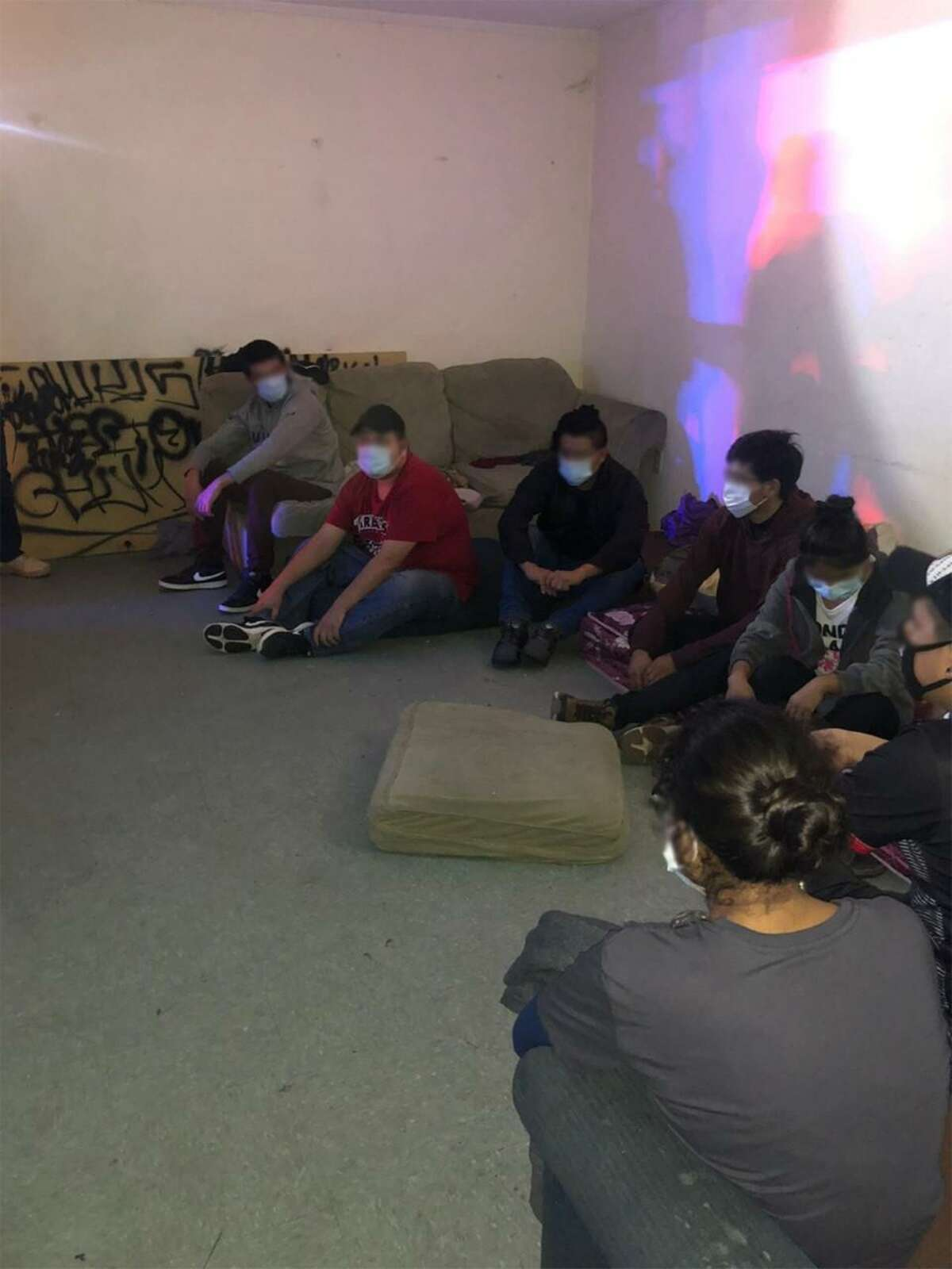 Federal authorities said they discovered 10 immigrants from the countries of Ecuador and Mexico inside a home on East Lyon Street.