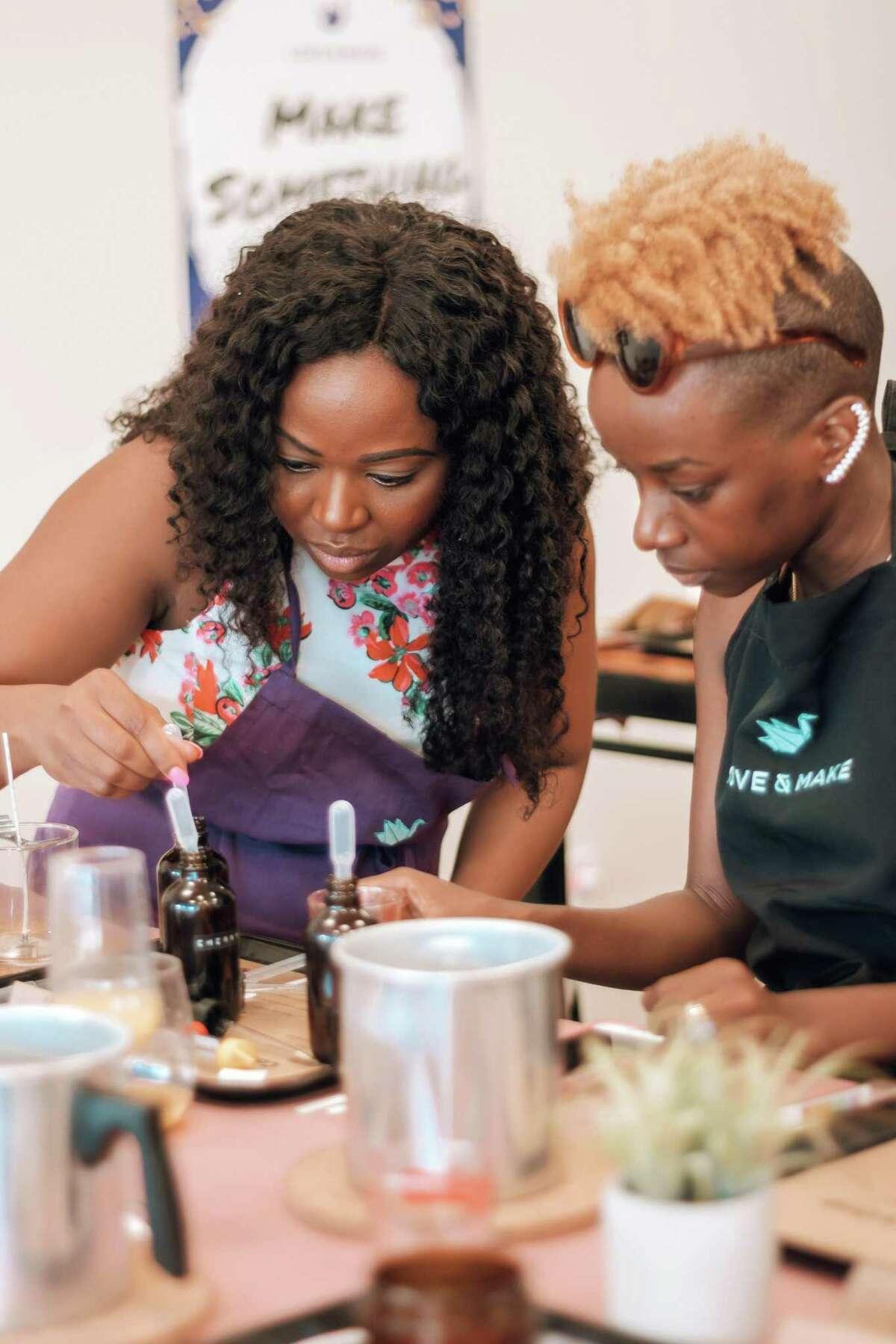 Love & Make founders Bukola Aigbedion, left, and Amara Aigbedion