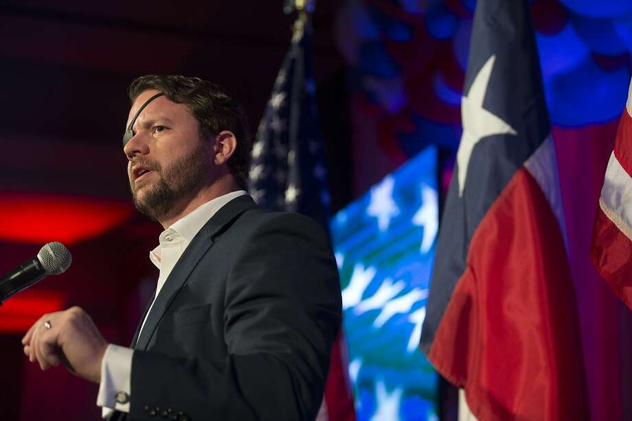 FILE PHOTO: Republican congressman Dan Crenshaw speaks to his supporters as he celebrates his victory during an election watch party Tuesday, Nov. 3, 2020 in Houston. Photo: Brett Coomer, Staff Photographer