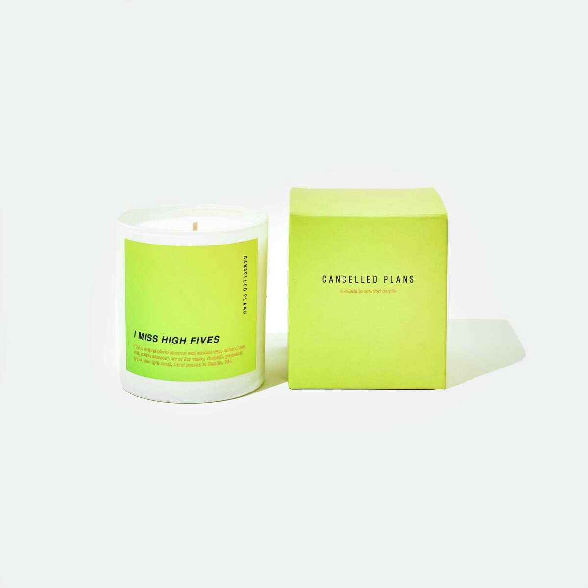 Cancelled Plans candle; $32 at cancelledplans.us