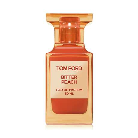 Tom Ford Bitter Peach: The designer describes his new scent as ripe fruit at its most erotic - a voluptuous nectar of stone fruit and Sicilian blood orange invested with notes of cardamom, rum, cognac, heliotrope and patchouli; $350 at Nordstrom, Saks Fifth Avenue and Tom Ford boutique at the Galleria.