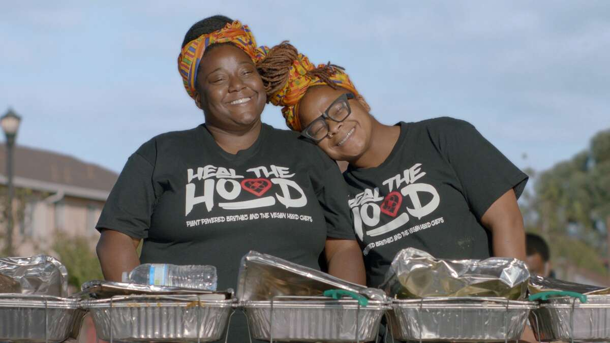 A photo of The Vegan Hood Chefs.
