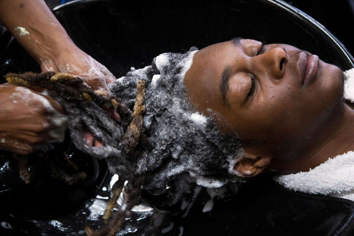Salon customers such as Aaron Jackson of Oakland will have fewer toxic chemicals put in their hair when they visit stylists in California.