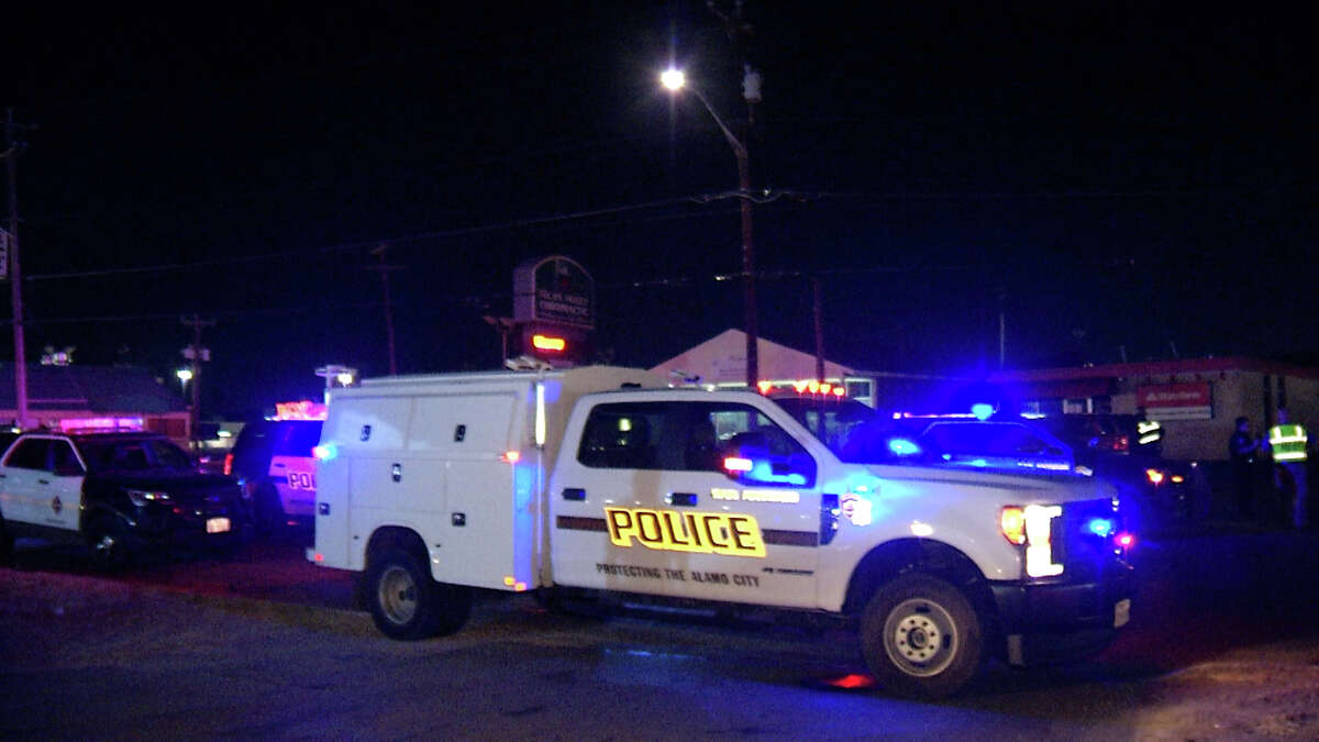 An elderly man was killed while attempting to cross the street near the 6100 block of Pecan Valley Road Thursday night.