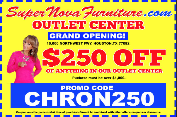 SuperNova's Outlet Center is located at 10000 Northwest Freeway, Houston, TX 77092