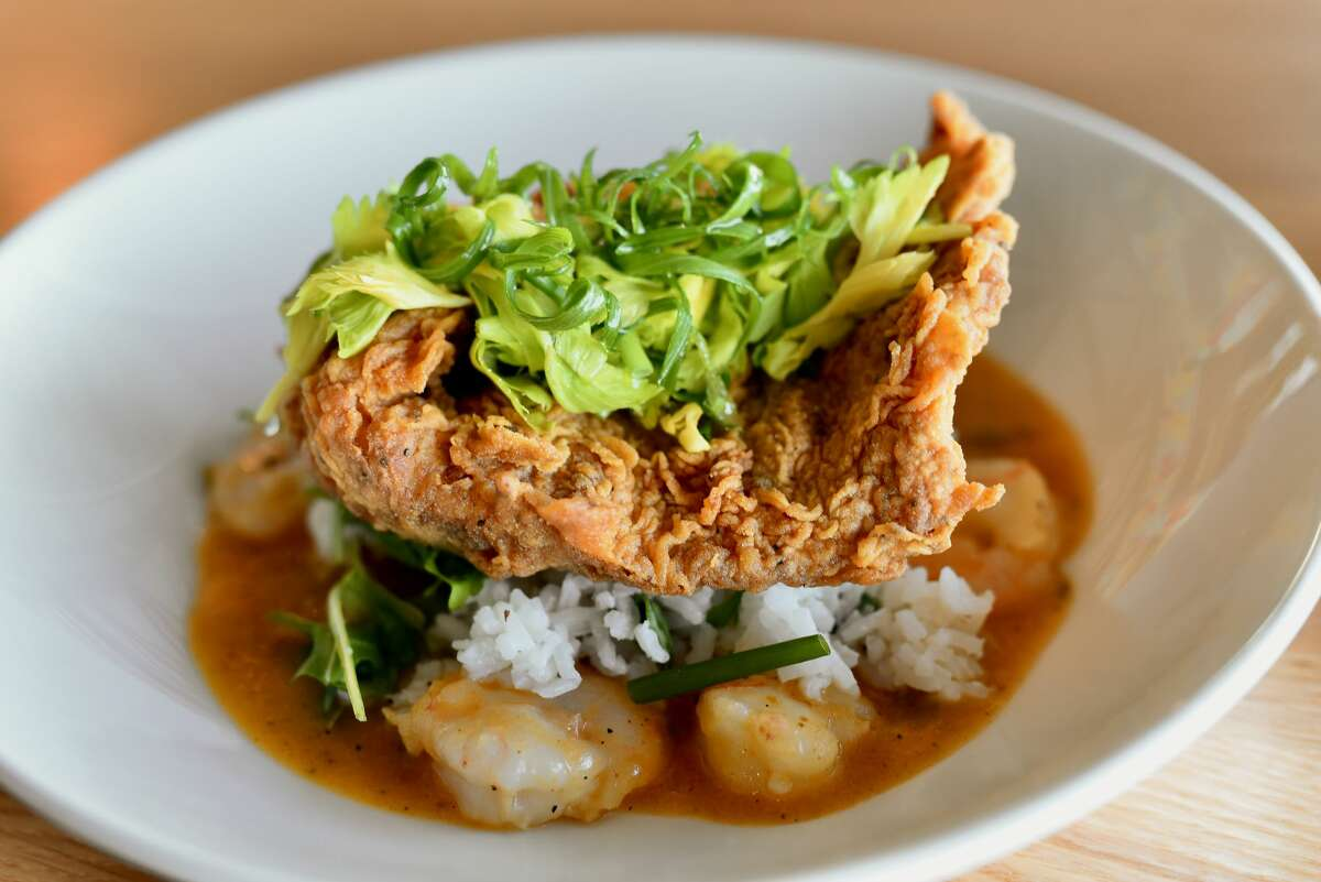 Pictured: Crispy red snapper at Pier 6.