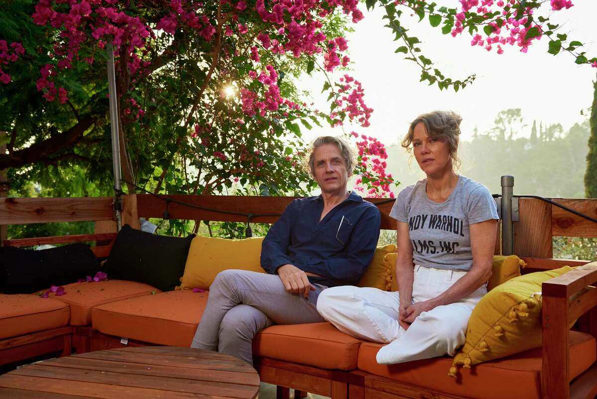Dean Wareham and Britta Phillips at their Los Angeles home.