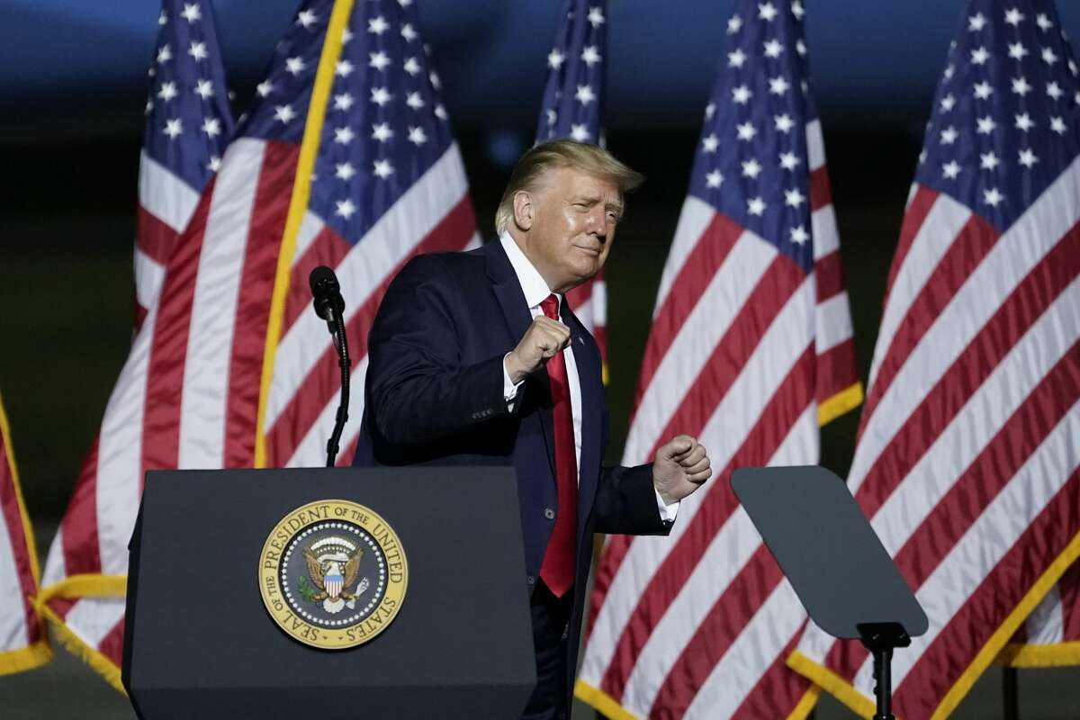 U.S. President Donald Trump dances to the song