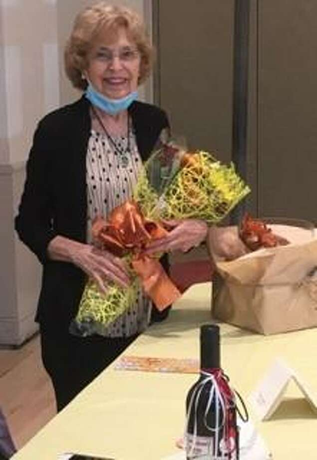 Constance (Connie) Fusco was recently honored by her fellow board members of the Schiller Shoreline Institute of Lifelong Learning, also known as SSILL. Photo: Contributed Photo