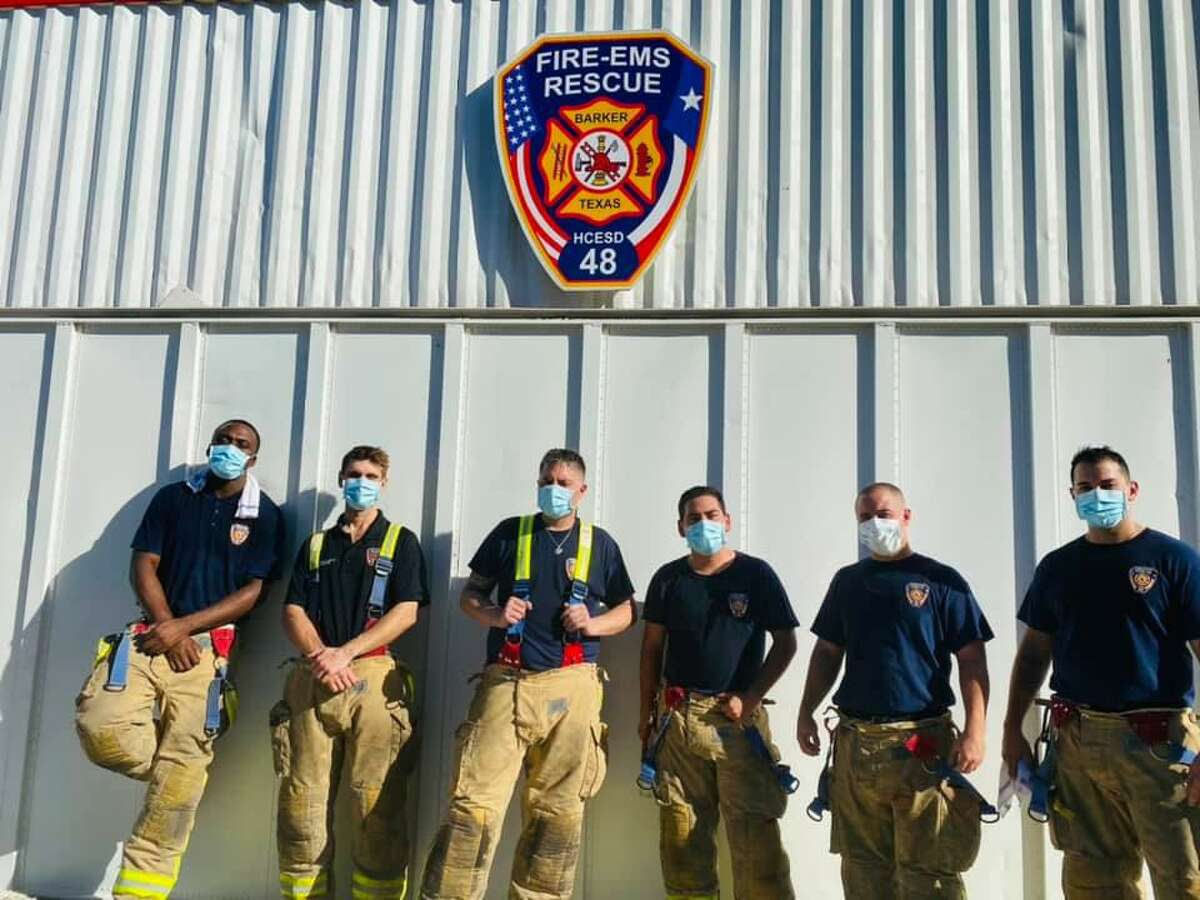 From left: Cliff Moulton, Reed Poorman, Brandon Hope, Gabriel Ramirez, Christian Kugler and Christopher Bawa are the newest firefighters for HCESD 48.