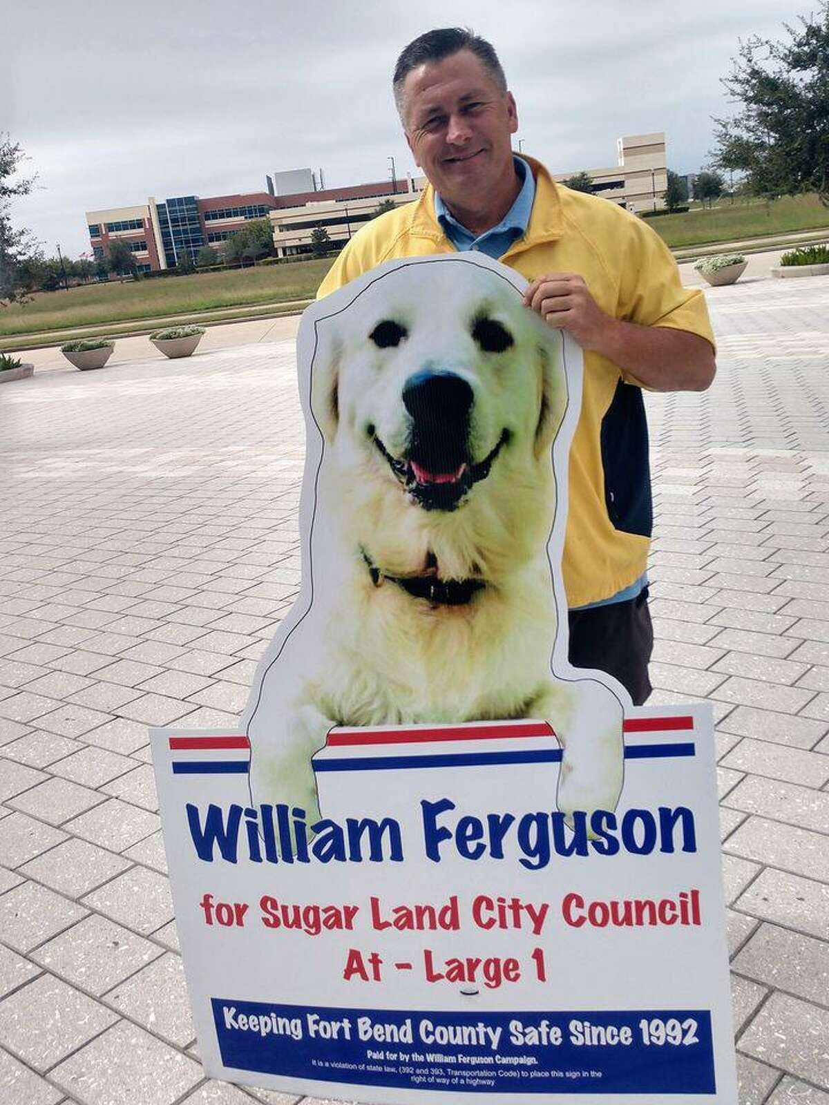 William Ferguson, entrepreneur and former police officer, has won the race for Sugar Land City Council At-Large Position 1