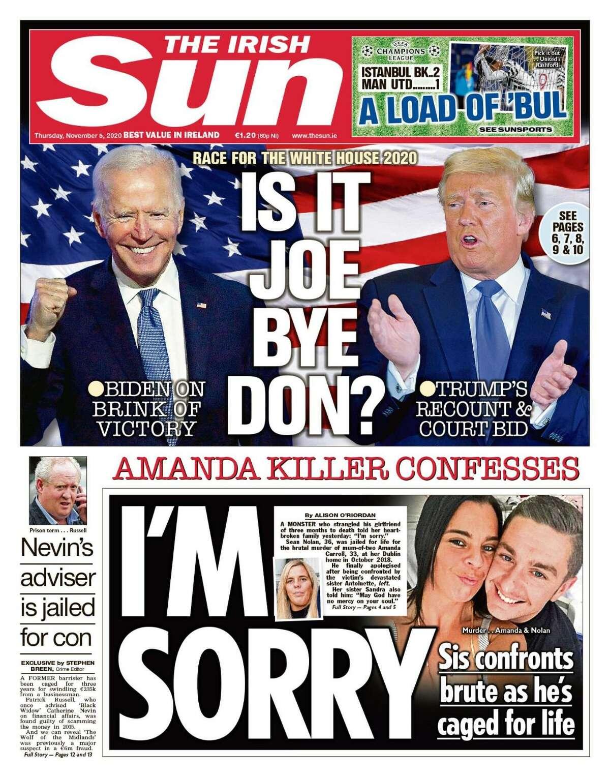 The Irish Sun headline read
