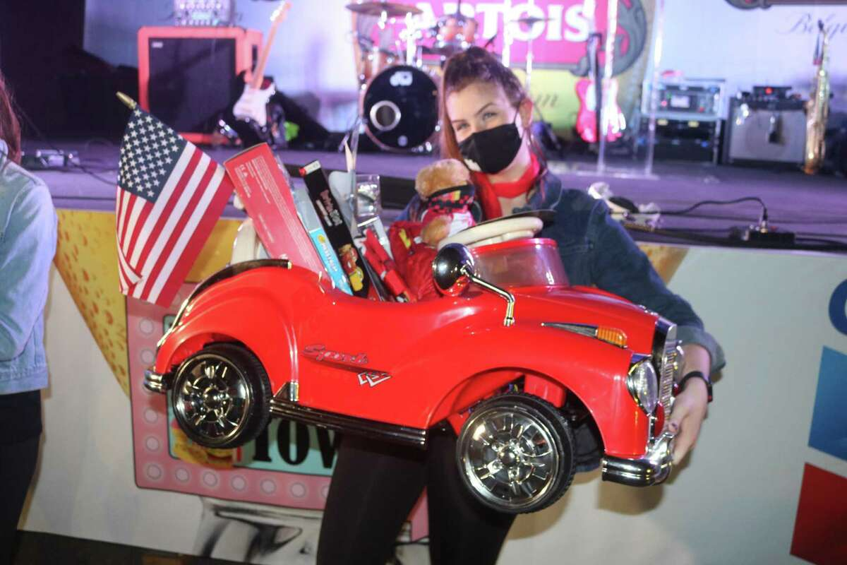 Item No. 12 on the bidding block at the Pasadena Chamber of Commerce's Taste of the Town event was this remote-control car loaded with all sorts of goodies. It also came with a birthday party for eight at Peter Piper Pizza.