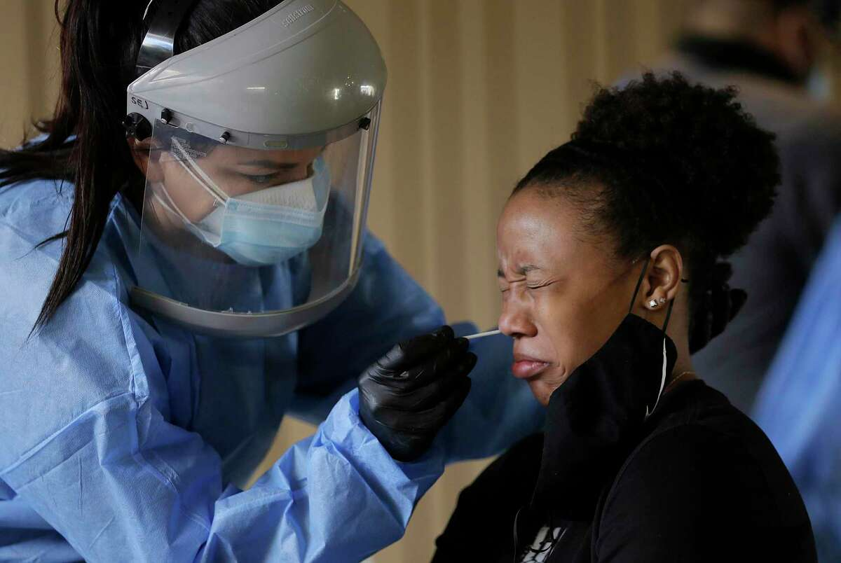 A University of Texas at El Paso student is tested for COVID-19 earlier this month. El Paso has seen a heartbreaking and frightening surge in COVID-19 cases, yet another example of the need for a broad federal plan to limit the spread of the virus.
