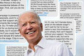 Joe Biden sent a LOT of text messages over the last three months.