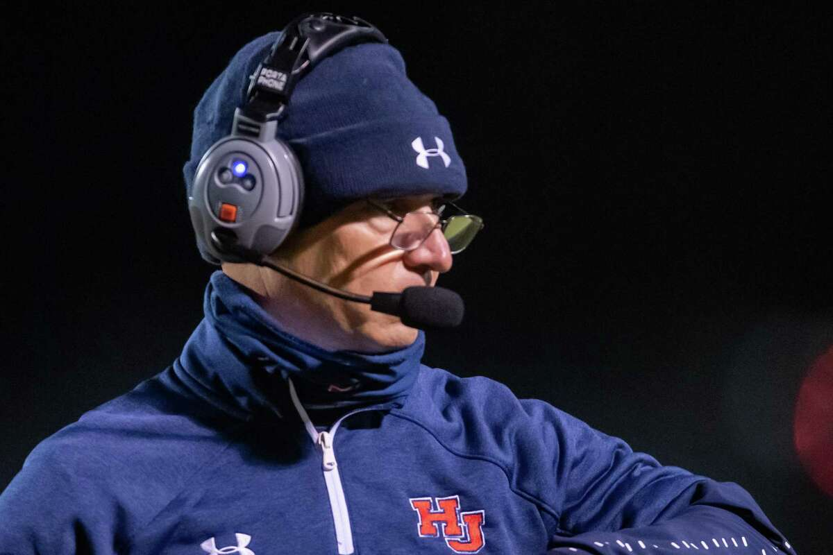 Hardin-Jefferson coach? Dwayne DuBois. The Silsbee Tigers brought their rumbling game to the Hardin-Jefferson Hawks at Hawk Stadium on Friday night. Photo made on October 30, 2020. Fran Ruchalski/The Enterprise