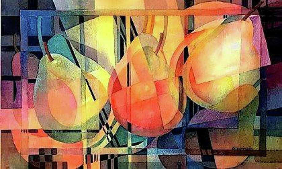"""Debbie Megginson's artwork """"The Geometry of Pears"""" will be among those featured this month in an exhibit at the David Strawn Art Gallery. Photo: Photo Provided"""
