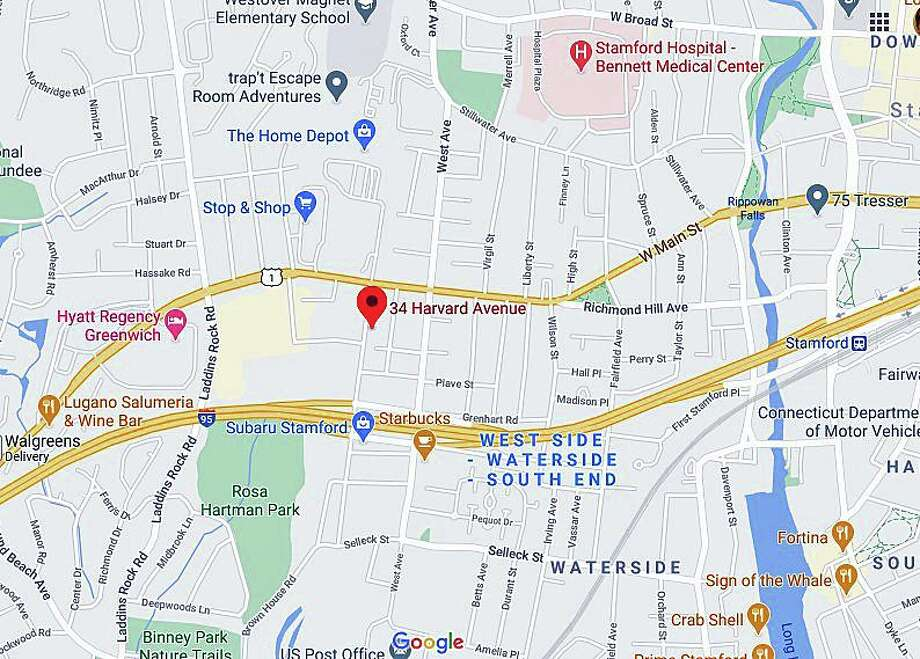 A 19-year-old bicyclist was killed Friday night on Nov. 6, 2020 after being struck by a vehicle on Harvard Street, Stamford police said. The Stamford man was riding his bicycle northbound when he was struck by a 2005 Cadillac being operated by a 46 year-old Bethany resident. Photo: Google Maps