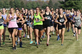 The heat with No. 1 runners and individual entries run in the opening quarter-mile Friday in the ShaZam Racing 2020 Cross Country Championships at Three Sisters Park in Chillicothe.