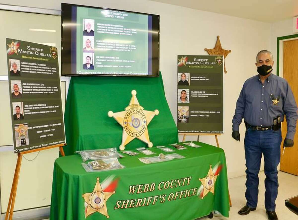 The Webb County Sheriff's Office said four narcotics investigations in the Rio Bravo and El Cenizo area led to the arrest of seven individuals and seizure of drugs and cash.