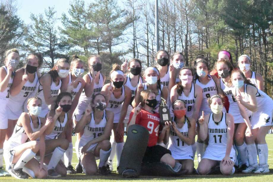 Trumbull completed its 12-0 season with its 2-0 victory in the FCIAC East Regional championship game. Photo: Trumbull Athletics / Contributed Photo / Trumbull Times