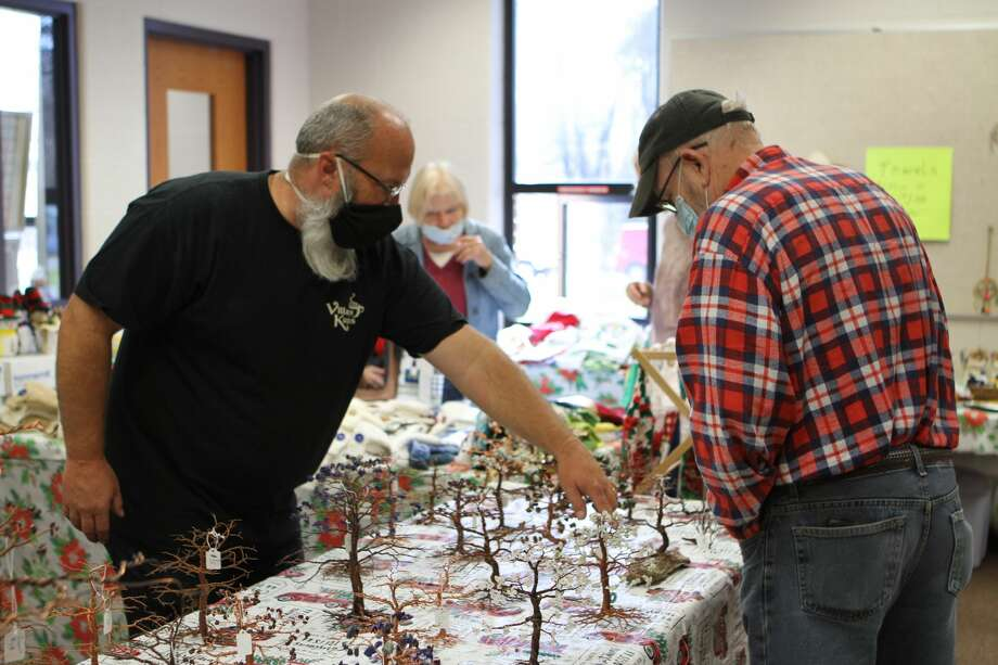 The Morley Community Center was bustling with activity on Saturday as residents and guests of the area stopped by to enjoy the center's first-ever Christmas Craft Bazaar. The community center was filled with vendors selling a variety of homemade crafts and presents for the holiday season. One of the bazaar organizers, Gordon Galloway, said the event went great and everyone was able to stay safe by keeping vendors socially distanced and asking all attendees to wear face masks. Photo: (Pioneer Photo/Taylor Fussman)