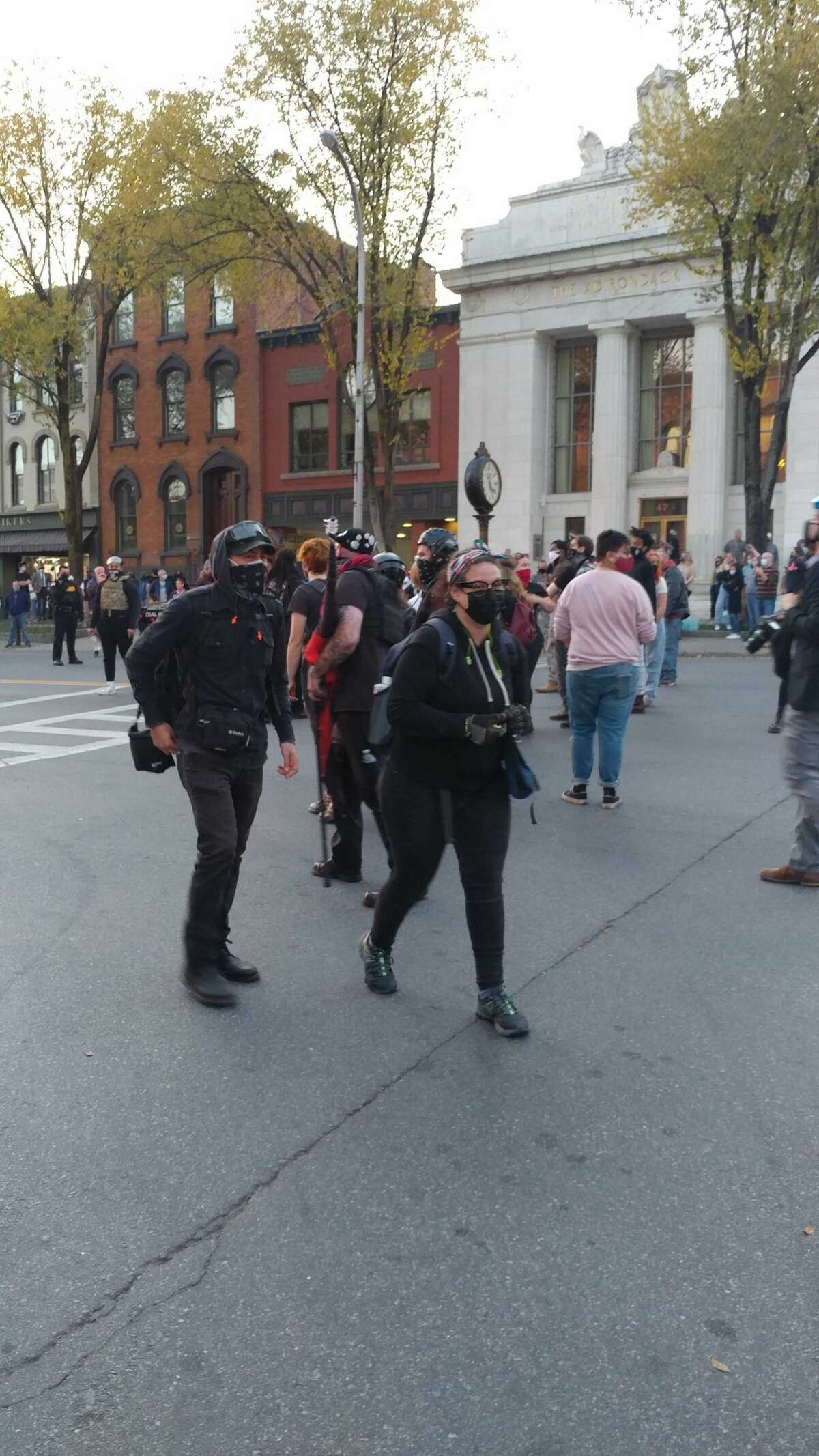 Hundreds joined in a Black Lives Matter rally Saturday afternoon in Saratoga Springs, with the crowds blocking traffic on main streets.