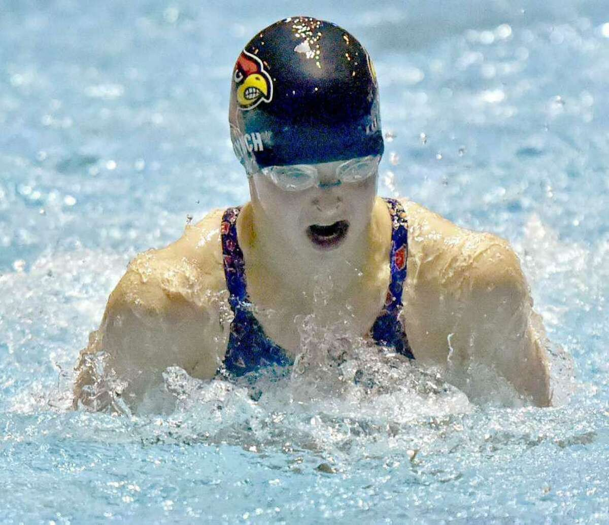 Meghan Lynch will conclude her Cardinals swimming career on Wednesday at the team's FCIAC West Regional Championships. Lynch is a three-time All-America selection and state-record holder and team-record holder in multiple events.