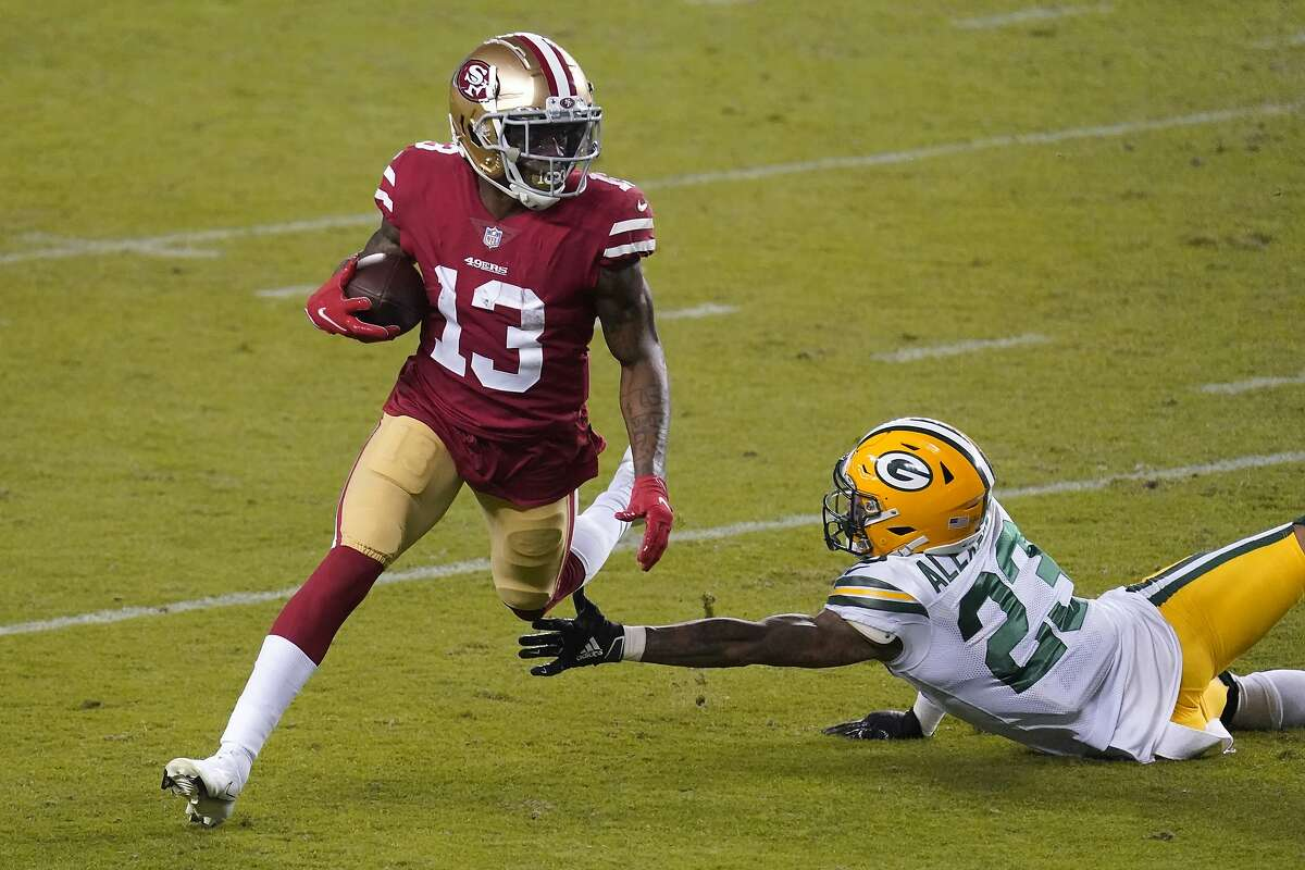 San Francisco 49ers wide receiver Richie James had nine catches for 184 yards and a 41-yard touchdown catch against the Packers on Thursday.