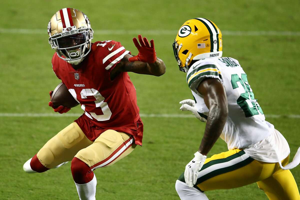 Niners' receiver Richie James entered Thursday's game against Green Bay without a catch this season and with only 15 in his career. He had nine in the 49ers' loss.