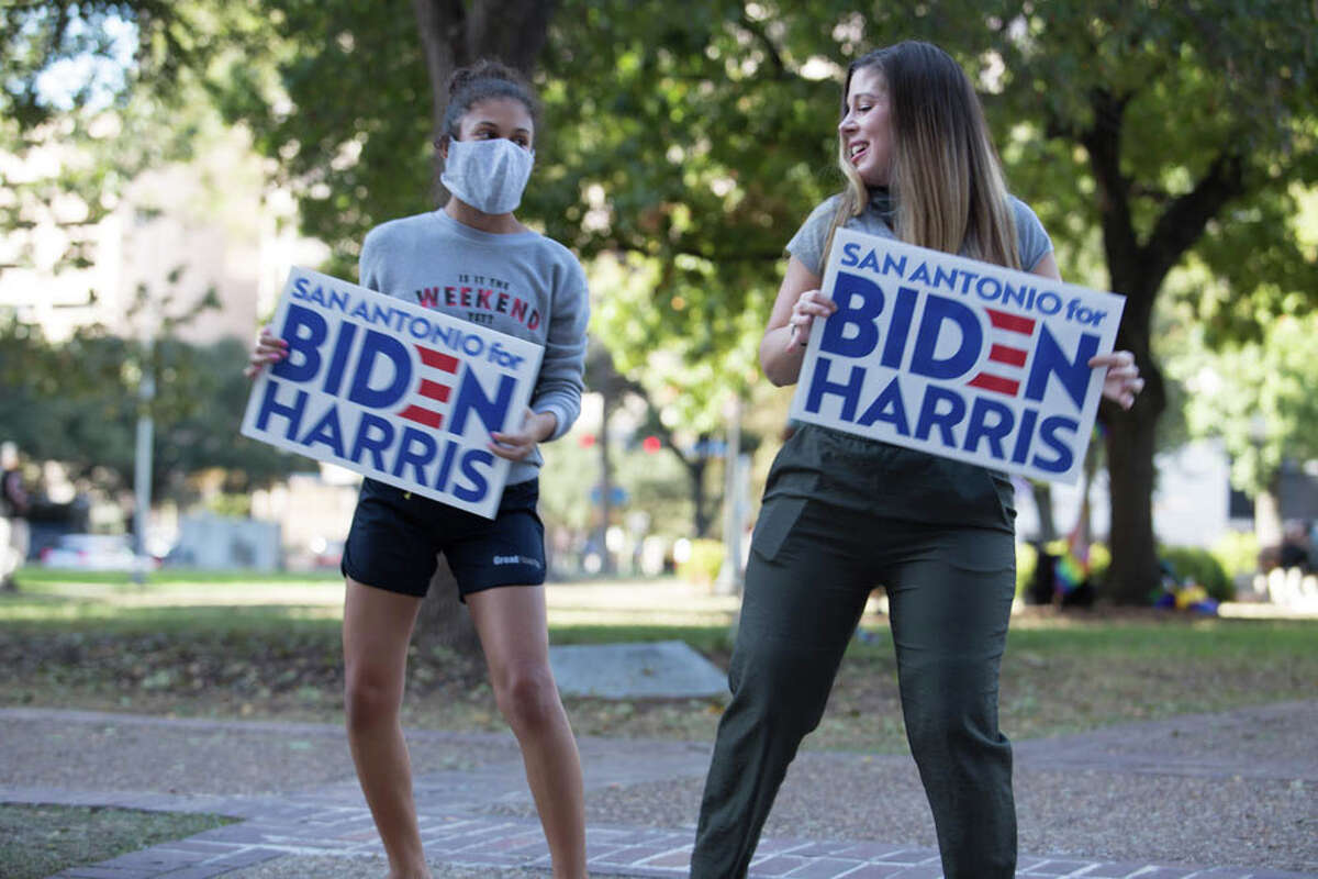 After Democrat Joe Biden beat President Donald Trump on Saturday to become the 46th president of the United States, San Antonians hit the streets to celebrate.