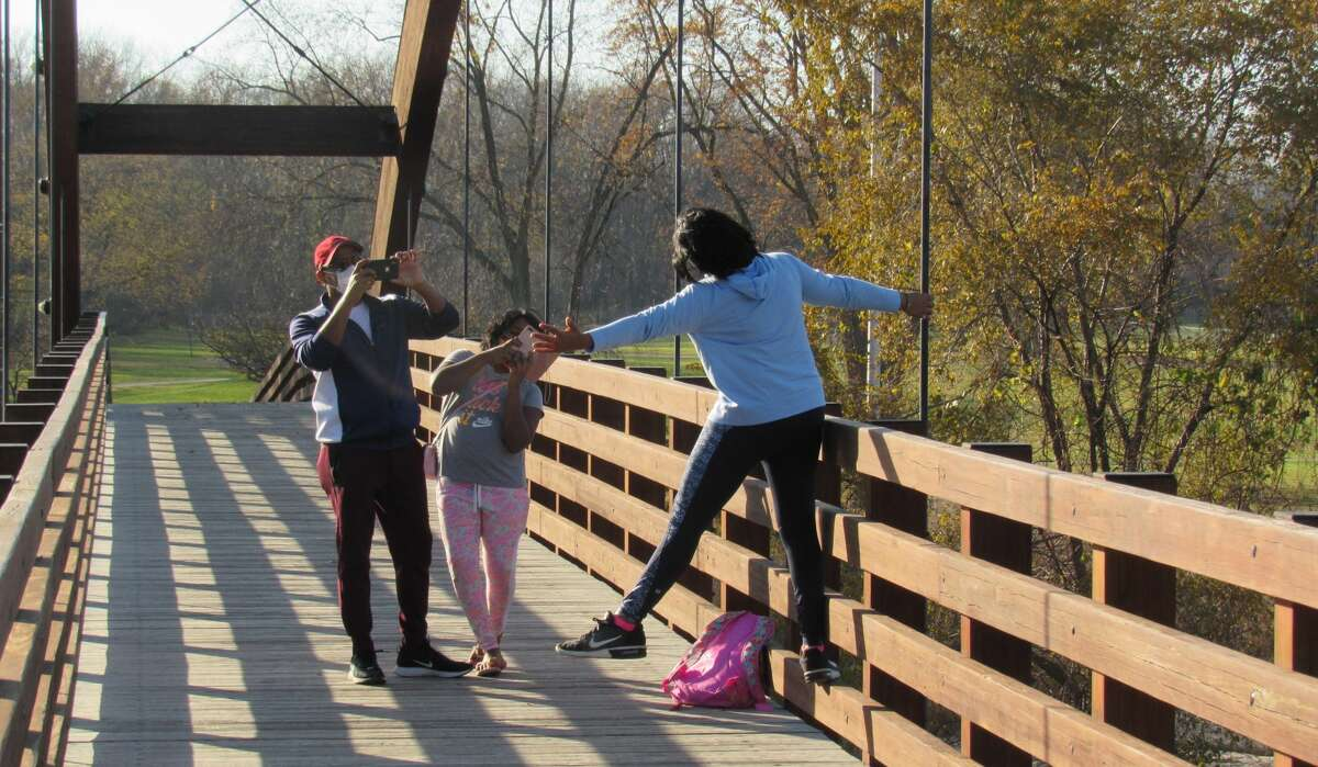 Midlanders of all ages travelled downtown to enjoy the rare warm weather on Nov. 7, 2020.